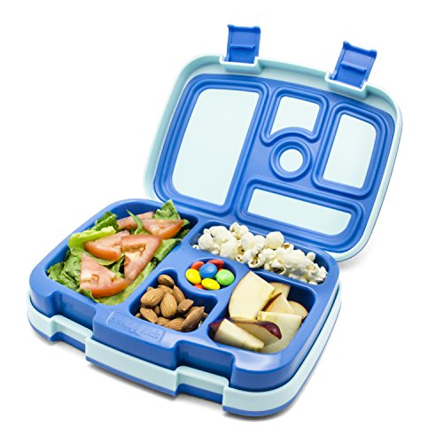 new bentgo leak proof bento styled children 39 s lunch box blue top lunch box. Black Bedroom Furniture Sets. Home Design Ideas