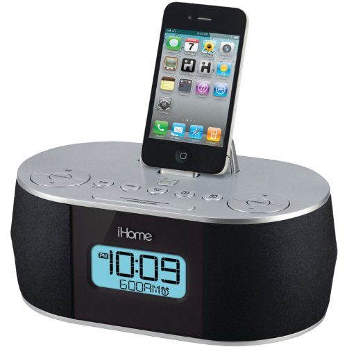 ihome stereo speaker dock alarm clock radio id38svc ebay. Black Bedroom Furniture Sets. Home Design Ideas
