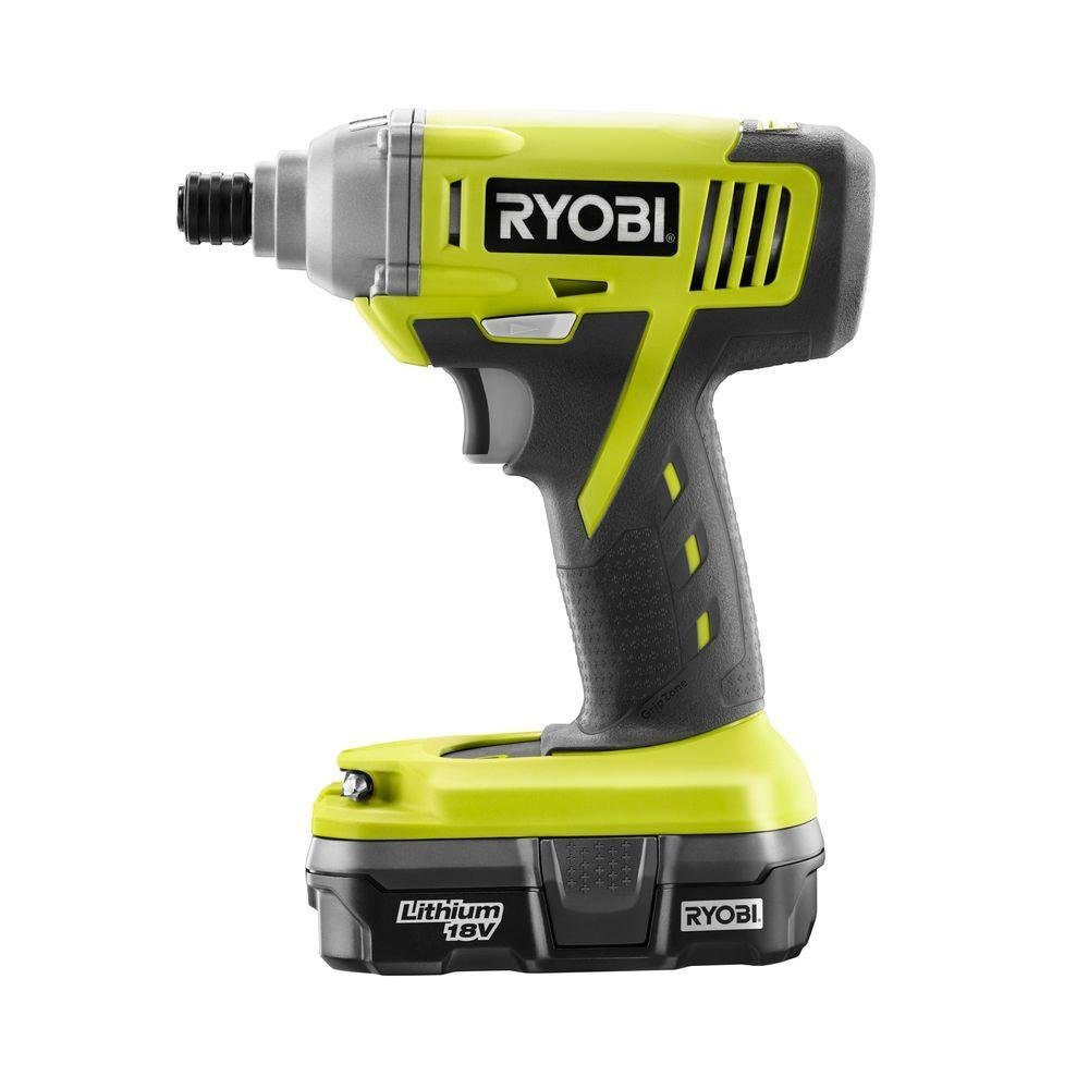 ryobi one 18 volt lithium ion 1 4 cordless impact driver. Black Bedroom Furniture Sets. Home Design Ideas