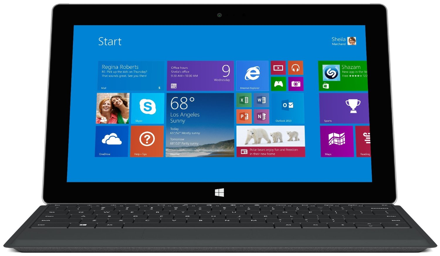 microsoft surface 2 10 6 tablet 2gb 32gb windows rt 8 1. Black Bedroom Furniture Sets. Home Design Ideas