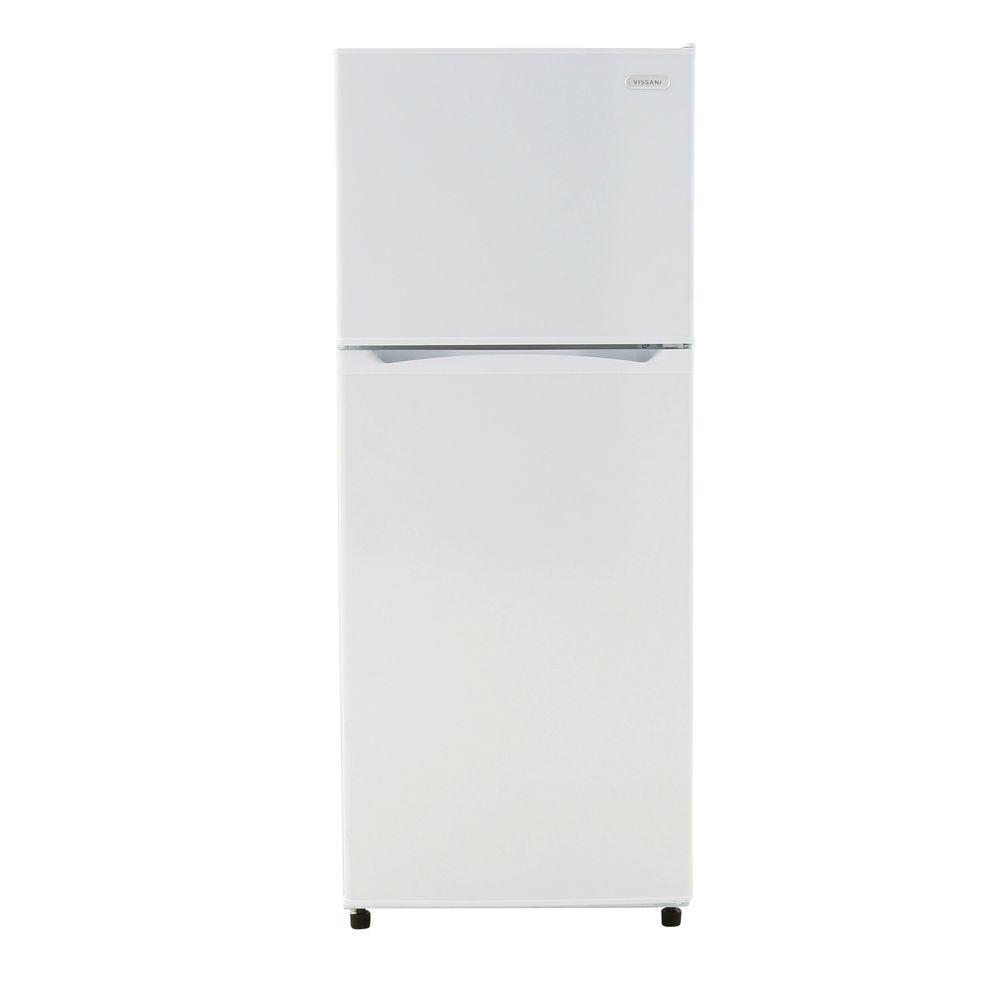 magic chef vissani 99 cu ft top freezer white hvdr1040w