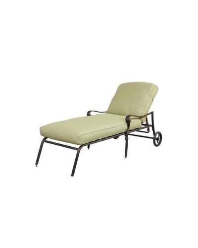 New hampton bay edington cast back adjustable patio chaise for Chaise de patio