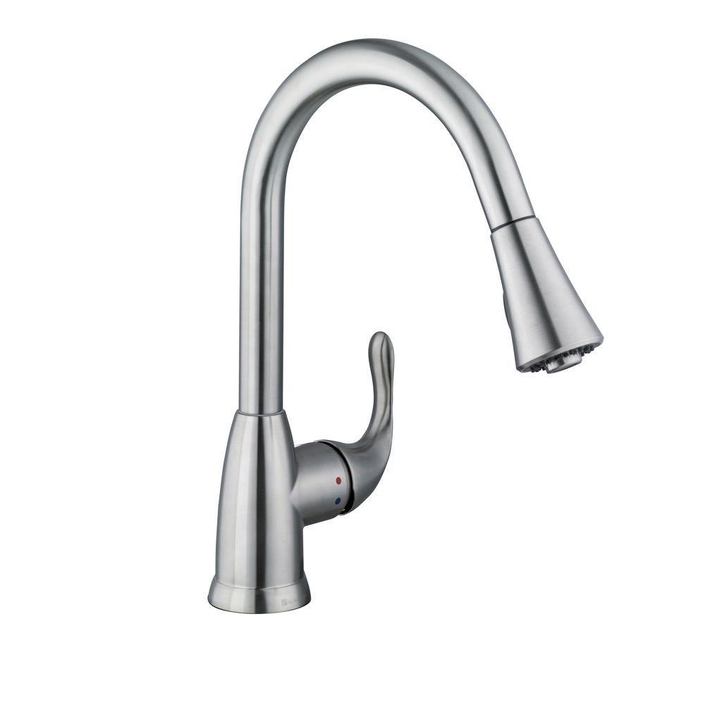 new delta izak single handle pull down sprayer kitchen faucet delta izak single handle pull down sprayer kitchen faucet stainless steel