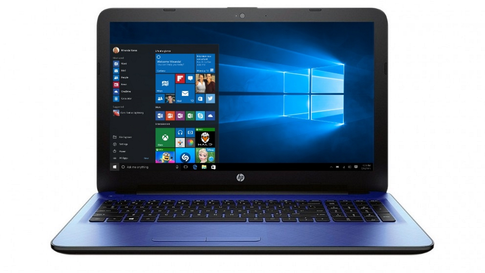 hp 15 6 laptop 4gb 500gb windows 10 blue p1a91ua aba ebay. Black Bedroom Furniture Sets. Home Design Ideas