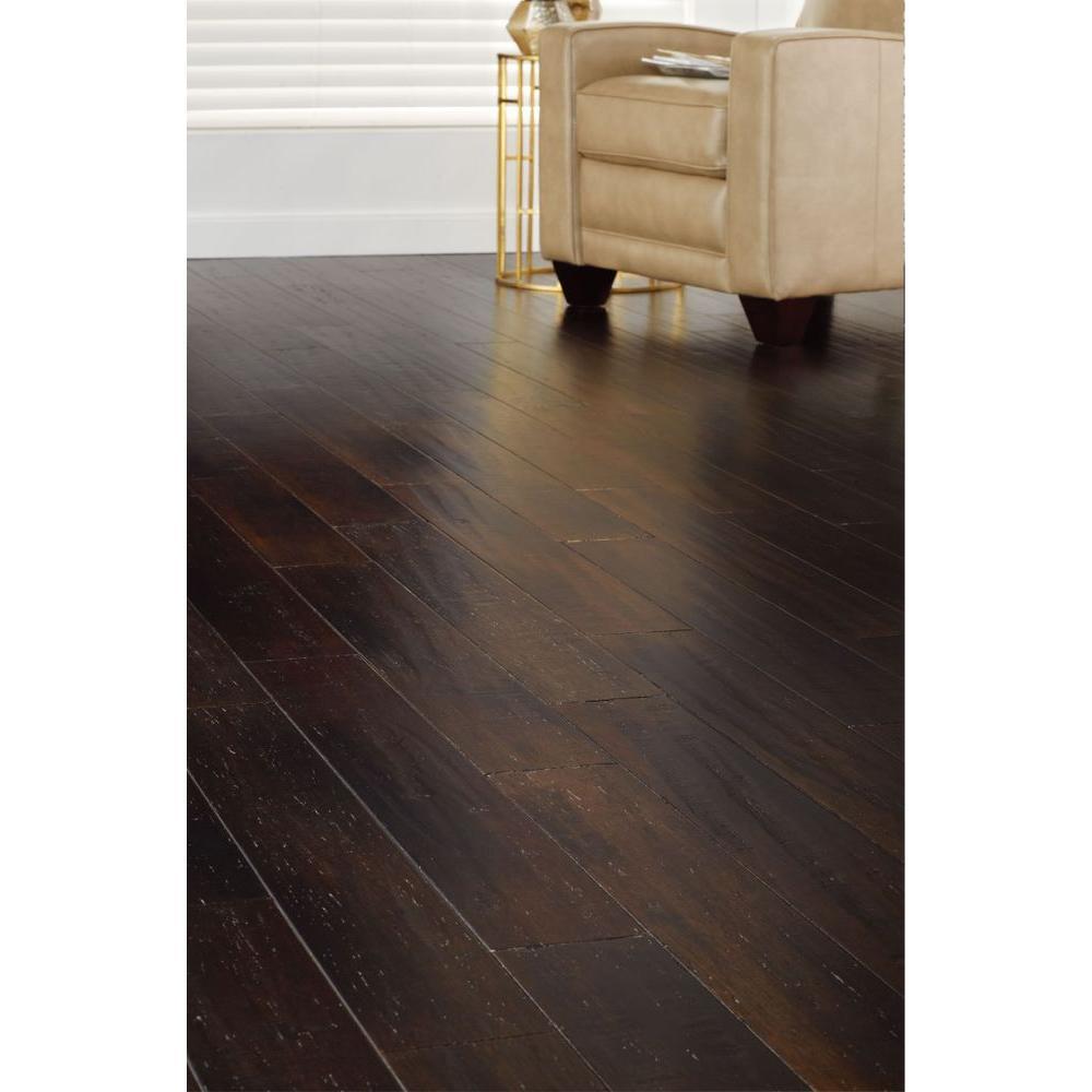 New Strand Woven Solid Bamboo Flooring Warm Espresso 1 2 X5 1 8 X72 7 8 Ebay