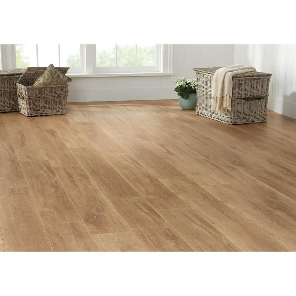New hdc 8mmx7 2 3 x50 5 8 biscayne washed oak laminate Home decorators collection flooring installation