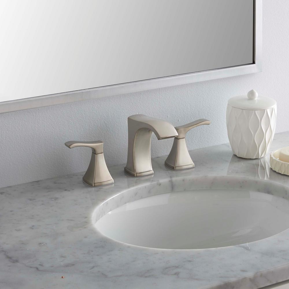 new venturi 8 in. widespread 2-handle bathroom faucet - brushed