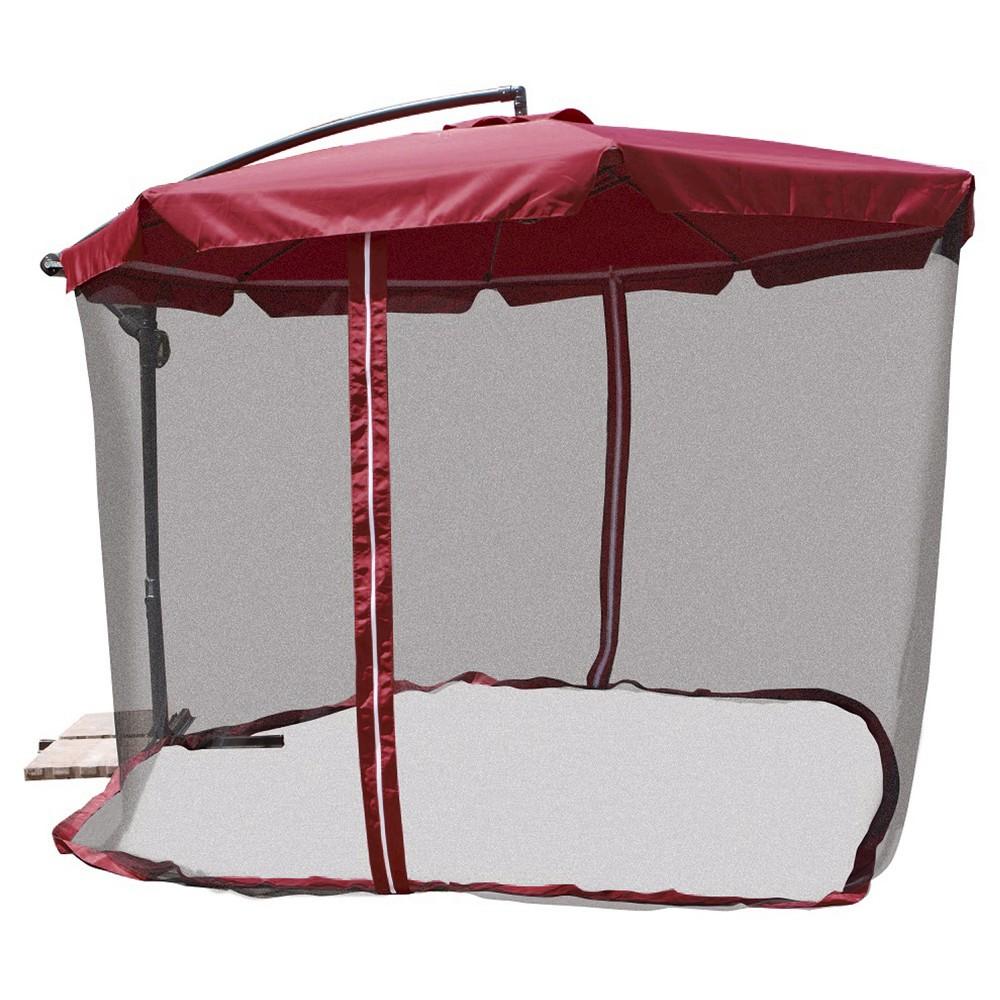 Patio Umbrella Netting: NEW 11' Offset Patio Umbrella With Mosquito Net