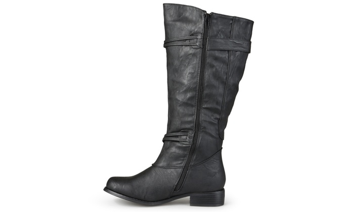new s wide calf knee high boots black