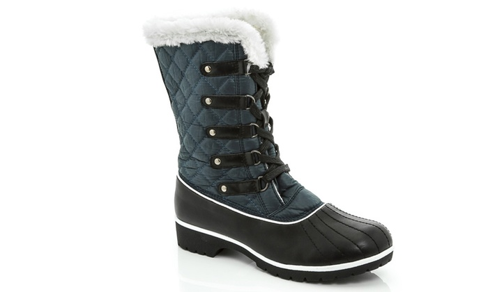 NEW Snow Tec Women's Snow Boots With Waterproof Outsole ...