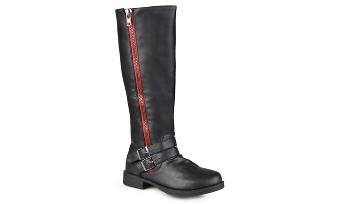 journee collection s wide calf boots black
