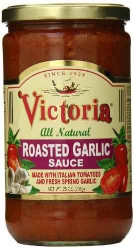Victoria 25 oz. All Natural Roasted Garlic Sauce