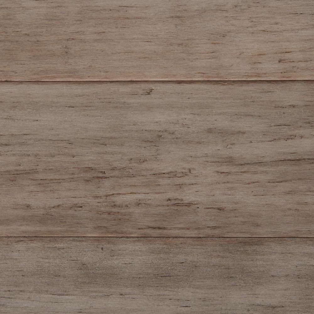 New home decorators hand scraped strand woven earl grey for Bamboo hardwood flooring