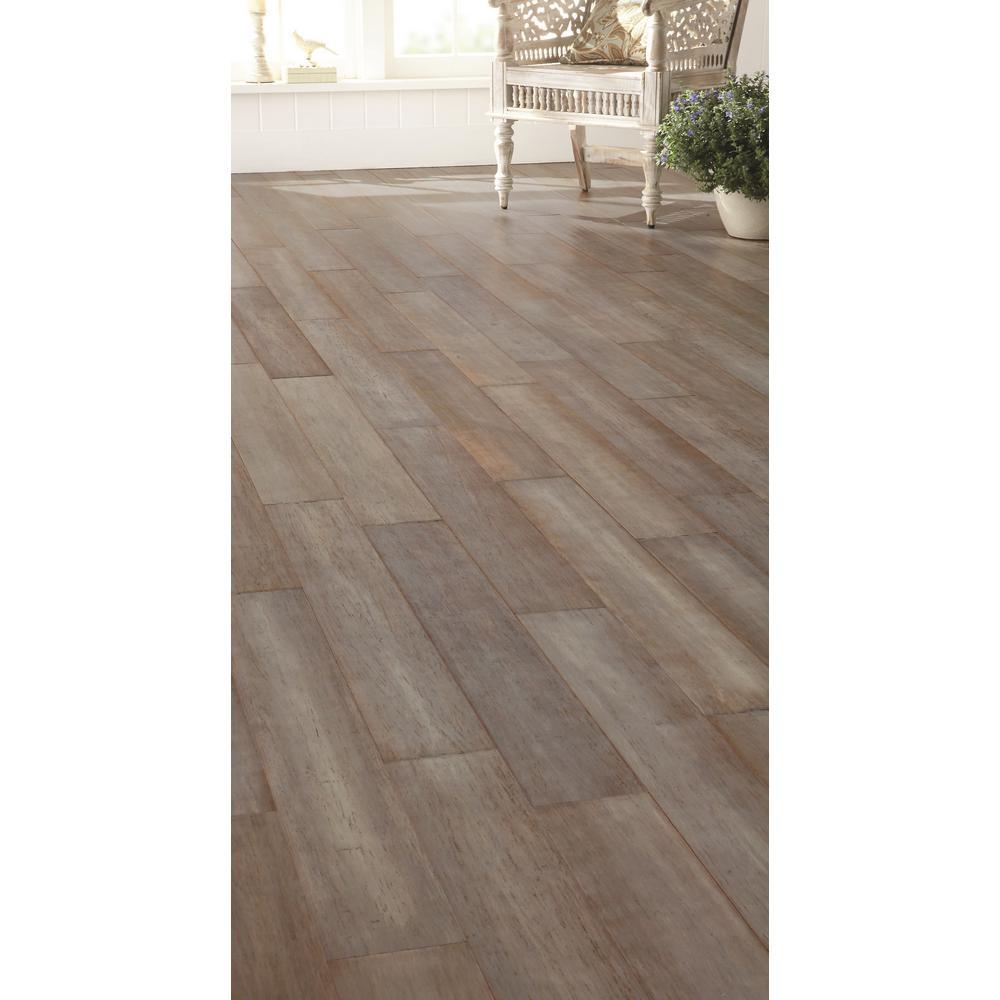 New Home Decorators Hand Scraped Strand Woven Earl Grey Bamboo Flooring Ebay