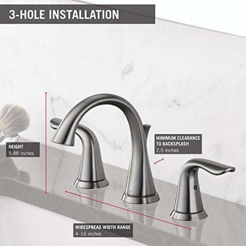 delta lahara 8 in widespread 2handle higharc bathroom faucet stainless - Delta Lahara