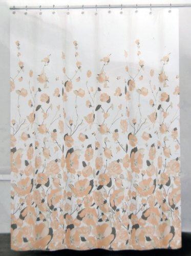 NEW DKNY Falling Petals Pattern Cotton Fabric Shower