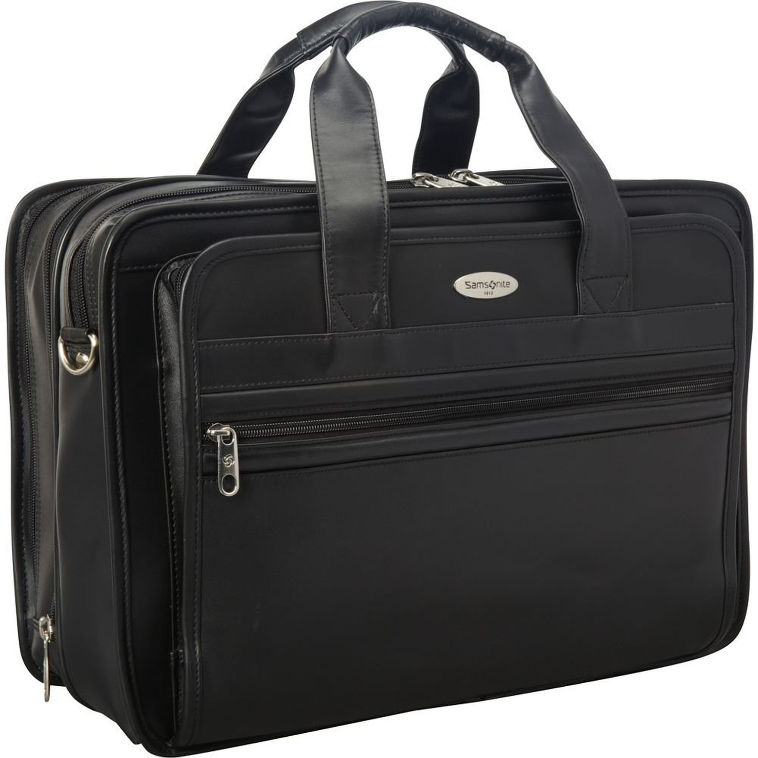 samsonite business cases expandable leather laptop bag