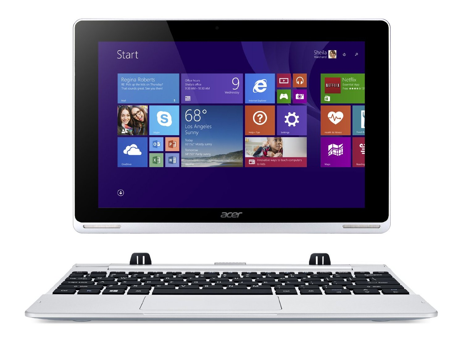 new acer aspire switch 10 1 laptop 2gb 64gb windows 8 sw5. Black Bedroom Furniture Sets. Home Design Ideas