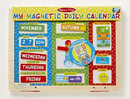 new melissa doug my first daily magnetic calendar ebay