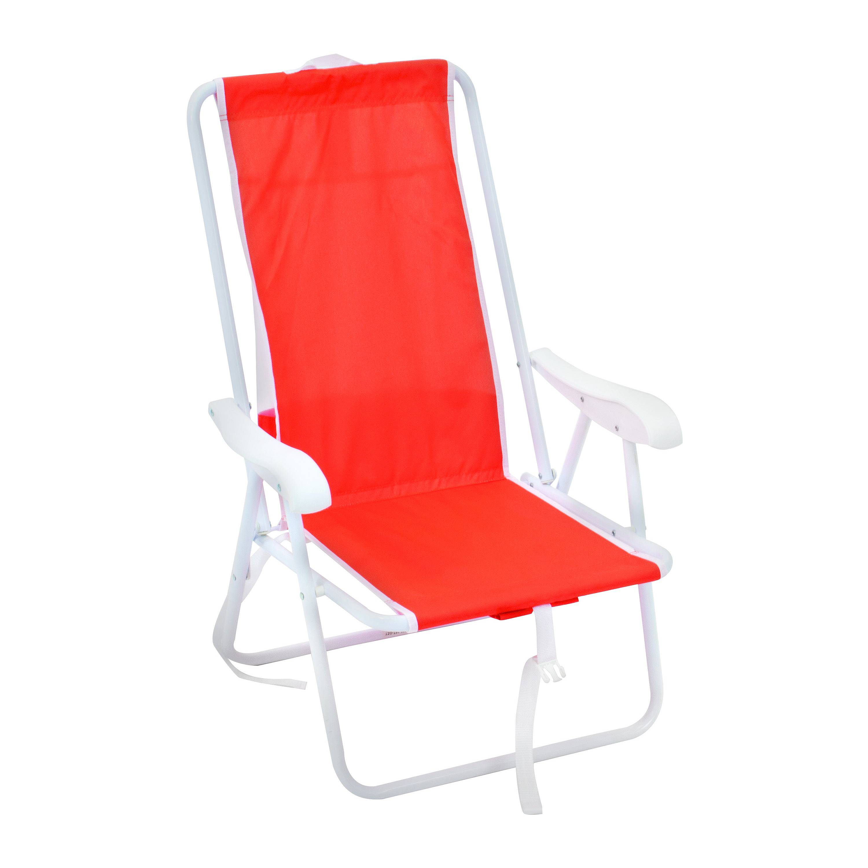 NEW Rio Backpack Beach Chair With Molded Plastic Arms