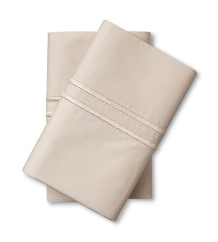 Fieldcrest King Size Bed Sheets: NEW Fieldcrest Supima Satin Stitch Pillowcase Set