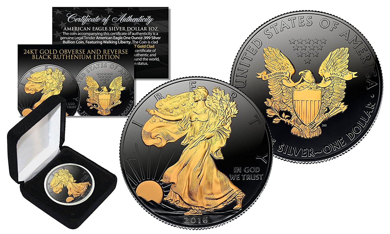 New Merrick Mint 24k Gold 2016 American Eagle Silver