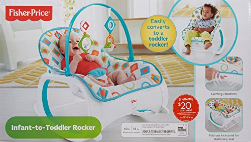 Details About Fisher Price Geo Diamonds Infant To Toddler Rocker Multi
