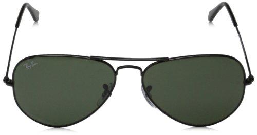 d502fbd05c ... coupon for ray ban rb3025 58mm mens metal aviator sunglasses black grey  green 83774 a030a