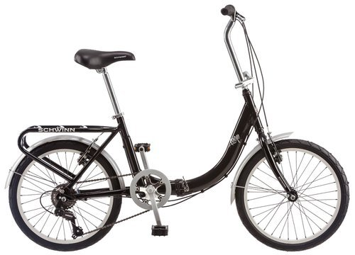 "Schwinn Unisex 20"" Loop Folding Bike - Black"