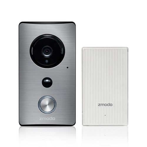 Zmodo Greet Wi-Fi Video Doorbell with Beam Smart Home Hub - Silver