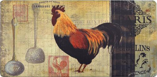 Nicole Miller Cook N Comfort Paris Rooster Kitchen Mat   Beige/Dark Brown