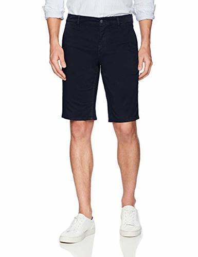 310ff1898 BOSS Orange Men's Slim Fit Cotton Stretch Chino Short - Navy - Size: 34