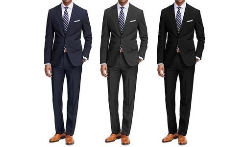 be09200e88b ... Braveman Men s Classic Fit Suit - 2 Piece - Black - Size  42rx36w