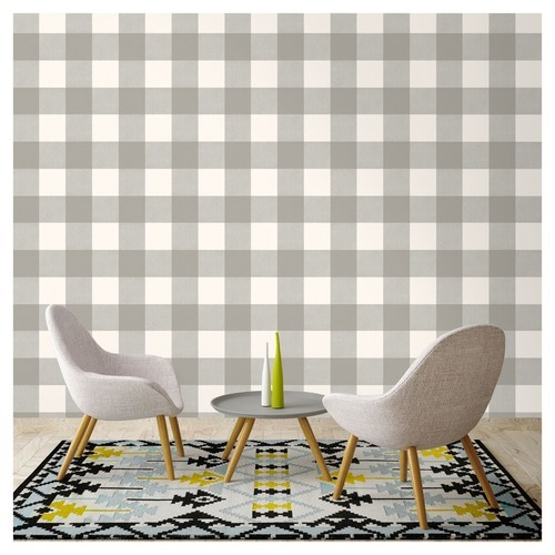 Details About New Devine Color Mirage And Lightning Buffalo Plaid Peel Stick Wallpaper