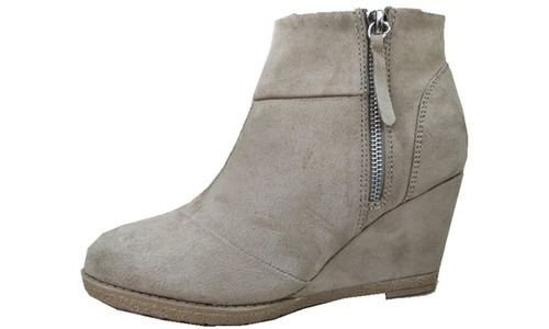 7381c752eb1 NEW Sociology Women s Wedge Booties with Tassel Zipper - Sand - Size ...