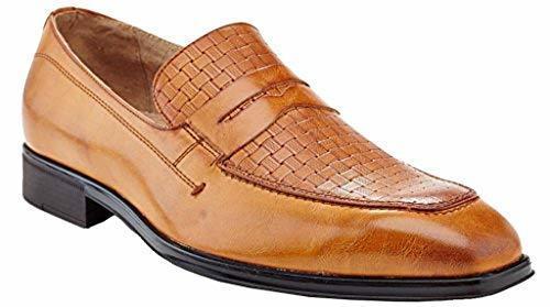 fd10e68e6b3 NEW Adolfo Kenny Plain Toe Men s Dress Shoes - Tan - Size  10.5 ...