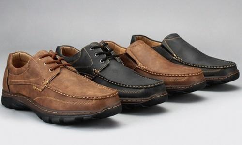 8e39e8361792 NEW Harrison Men s Rockridge Lace-Up Loafers - Brown - Size  12 ...