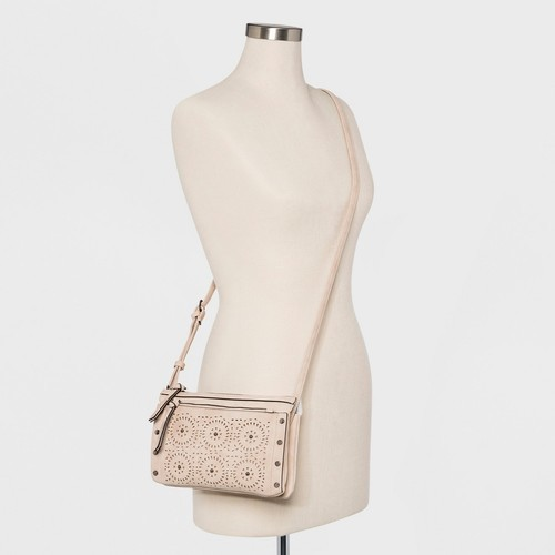 NEW Violet Ray Women s Laser Cut Addison Cross Body Bag - Pink ... 68b9da3eec488
