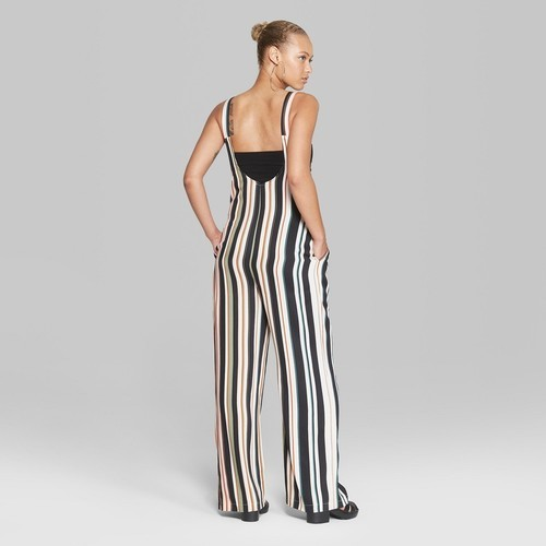 84c8769c952 ... Wild Fable Women s Striped Sleeveless Woven Jumpsuit - White - Size XS