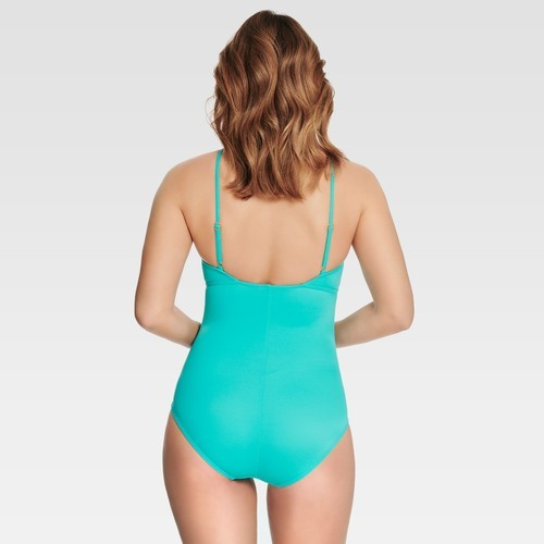 7d3443bbde NEW Miracle Dreamsuit Women's High Neck One Piece - Turquoise - Size ...