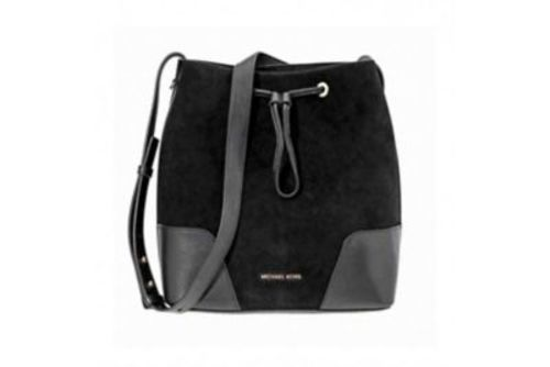 8d1009821c96 Michael Kors Cary Medium Bucket Crossbody Bag - Black 192317865622 ...
