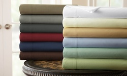 The Hotel Collection Microfiber Sheet Set: Chocolate/Q,