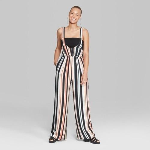 3ea1a923183 ... Wild Fable Women s Striped Sleeveless Woven Jumpsuit - Multi - Size XL
