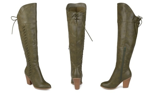 2b612b4e59bb NEW Journee Women's Wide-Calf Over-the-Knee Boots - Green - Size: 7 ...