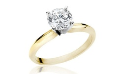 2 CTTW Round Diamond Solitaire Ring - Yellow Gold - Size: 7