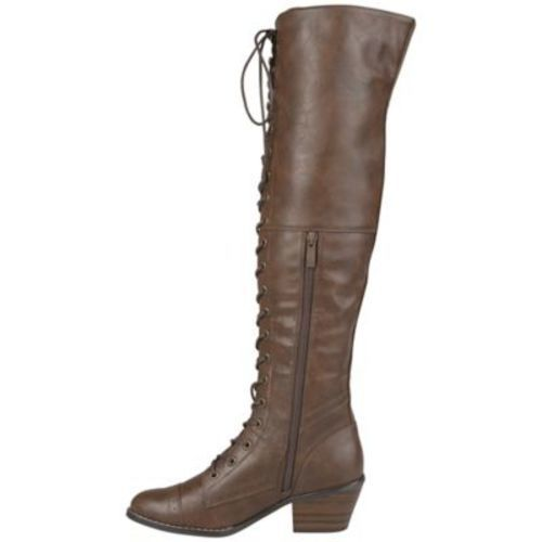 f7bd879891c Journee Collection Women s Bazel Wide-Calf Boots - Brown - Size 11 ...