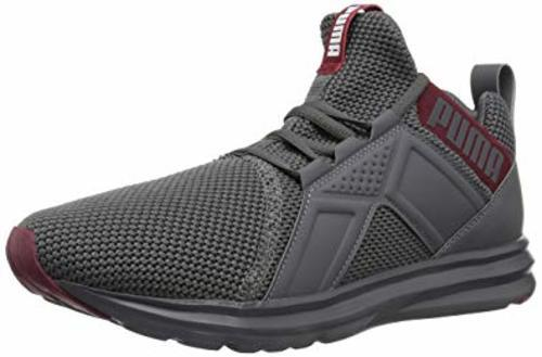 Puma Men s Enzo Woven Mesh Running Shoes - Gray-Red - Size 12 ... 6fbe4a72f