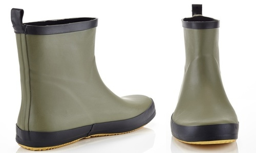 6c747c322 NEW Solo Men's Pull-On Rubber Rain Boots - Green - Size: 9 ...