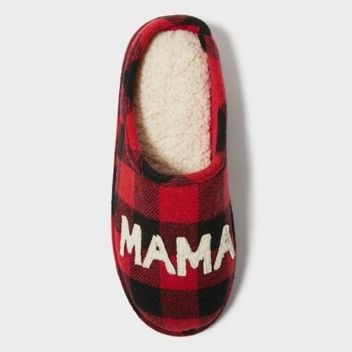 c4949ed9825 NEW Dearfoams Deluxe Women s Mama Bear Scuff Slippers - Red - Size ...