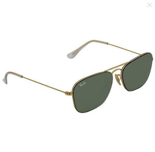 7ea71f3926745 Ray Ban Unisex Metal Square Sunglasses - Gold Green 8053672877847